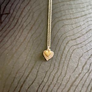 Two Tone Silver & Gold Hearts Necklace